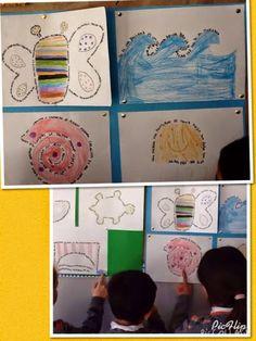Estos son algunos de los caligramas que construímos con las poesías de los animales del mar. Qué les parece? Se aceptan comentarios!      ...