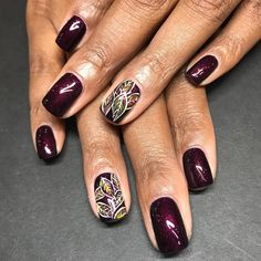 """129 Likes, 7 Comments - Modern Nails Boutique Salon (@modernnails_southend) on Instagram: """"Fall leaves fall #modernnailsboutiquesalon #fallnails"""""""