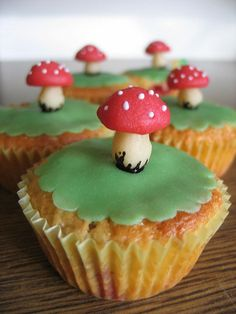 toadstool cupcakes   Flickr - Photo Sharing!