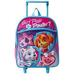 919744bc6c4c Girls Rolling Backpack Paw Patrol School Travel Lunch Bookbag Pink Purple  12 In  GirlsRollingBackpack
