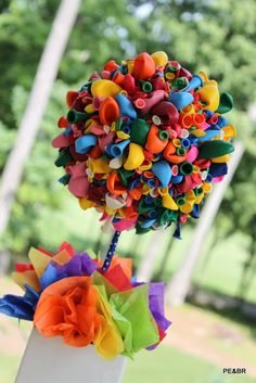Balloon Topiary in multiple colors perfect for a by SoCuteParties. $38.00 USD, via Etsy.