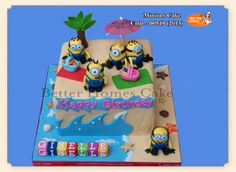 Children's Birthday Cakes - Minions Cake (www.betterhomes-cake.com)
