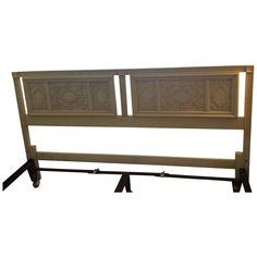 Henredon Fretwork Fret Console Vintage Sofa Table Chinese