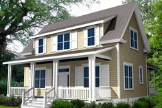 Farmhouse Style House Plan - 3 Beds 2.5 Baths 1760 Sq/Ft Plan #461-23 Exterior - Other Elevation - Houseplans.com