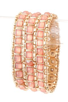 Bejeweled Coral Bracelet - Could not love this more. The color is amazing. Want <3