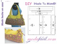 Free download Patterns Bags & Cases To download and print at home, ready to put on the fabric and cut