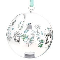Moomin decoration balls are stylish and a nice way to decorate your home. This one features beloved Moomin characters in green. Place a candle in it and bring the Moomin characters to life. Moomin Shop, Lassi, Tea Light Holder, Box Design, Scandinavian Design, Cool Kitchens, Decorating Your Home, Tea Lights, Christmas Bulbs