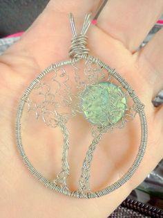 Full Moon Double Tree of Life Pendant. $14.00, via Etsy.