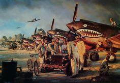 American Volunteer Group in China, by John D. Shaw (Curtiss P-40B)