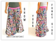 Funky, trendy and comfortable   Handmade  harem pants by Simply i on etsy :)