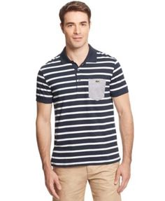 Lacoste Ultra-Dry Striped Polo