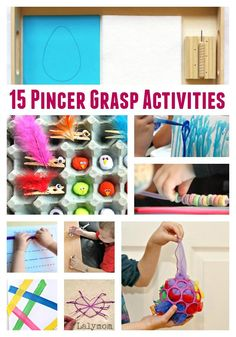 15 Pincer Grasp Activities for Toddlers and Preschoolers, Could be used for Montessori activities Fine Motor Activities For Kids, Motor Skills Activities, Art Therapy Activities, Gross Motor Skills, Infant Activities, Preschool Activities, Table Activities For Toddlers, Preschool Learning, Writing Activities