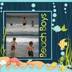 "Summer ""Beach Boys"" Scrapbooking Page...lorigaud: A Cherry On Top."