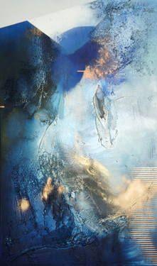 "Saatchi Art Artist Mélisa Taylor; Painting, ""At Sea Between Fossils and Satellites 4"" #art"