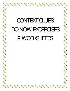 Context Clues Do Now Exercises | BetterLesson