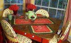 Summer Picnic Table Runner & Placemats