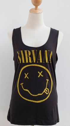 Hey, I found this really awesome Etsy listing at https://www.etsy.com/listing/163776002/nirvana-rock-band-sleeveless-vest-tank