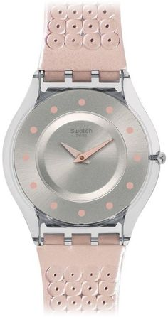 3a59dc31d88 Swatch Women s SFK387 Skin Analog Display Swiss Quartz Pink Watch. The New  Fashion · Women s Watches