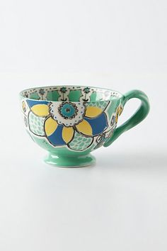 Ayaka Mug  #anthropologie (I want this but in red for my mug tree in my kitchen)