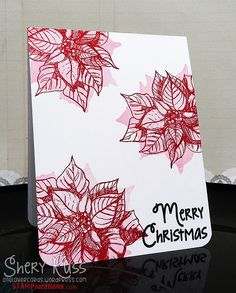 One layer card by Shery using Holiday Sketches: Christmas Flower and Holiday Sketches: Christmas Candles (sentiment)