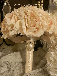 Custom Bridal Party Brooch Bouquets