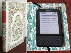 Kindle Case made of recycled books!