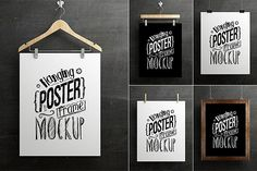 Hanging Poster Frame Mockup by antyalias store on @creativemarket