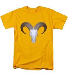 Low Poly Aoudad - Men's T-Shirt (Regular Fit)