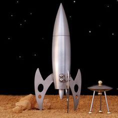 Rocket Ship Pepper Grinder