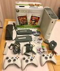 XBox 360 Console HDD Wireless Adater 3 Games 4 Controllers marvel Lego NCAA BCFX