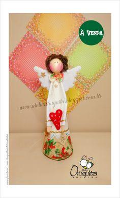 .: Atelier Oruguita Arteira :.: .: Atelier Oruguita Arteira :.: Anjinha Natalina #Angel, #angelitos, #anjos, #anjinhos,  #navidad, #natal, #cartonagem, #decoupage, #feltro, #felt, #craft, #handmade, #EVA,