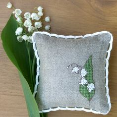 embroidered pincushion by Bela Stitches, via Flickr