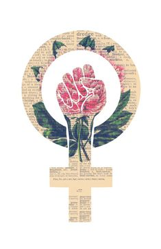 Respect, equality, women's liberation. Feminism Power Fist / Raised Fist Art Print