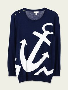 Joie - Valera Sweater in Navy. Pair it with some Sperrys and a pleated white skirt