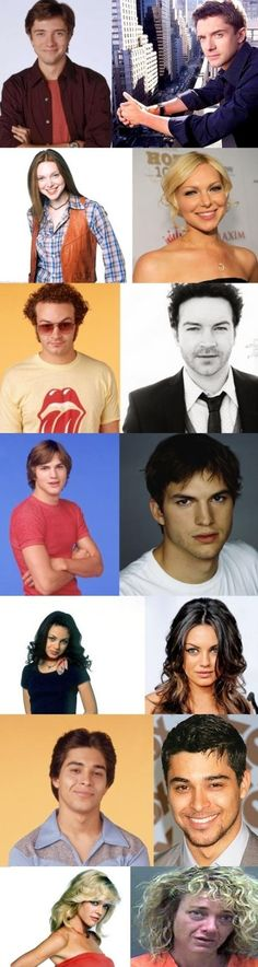 That 70s Show Cast: Then and Now......oh wow, all of them are great success, now look all the way down....bummer