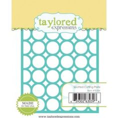 <p>Taylored Dies are our exclusive, American made thin steel dies. Our dies work in nearly every die cutting machine including the Cuttlebug, Big Shot, Vagabond, and Grand Calibur.</p>