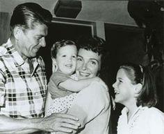 President Ronald Reagan, Ron Reagan, Nancy Reagan, & Patti Davis
