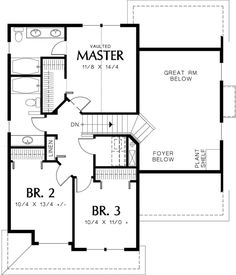 Traditional Style House Plan - 3 Beds 2.5 Baths 1500 Sq/Ft Plan #48-113 Floor Plan - Upper Floor Plan - Houseplans.com