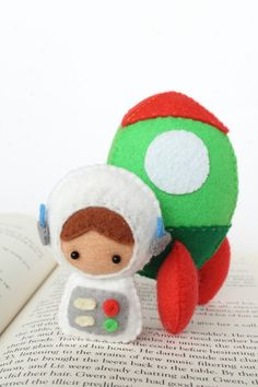 Patterns Felt Astronaut Doll and Rocket Plush door typingwithtea