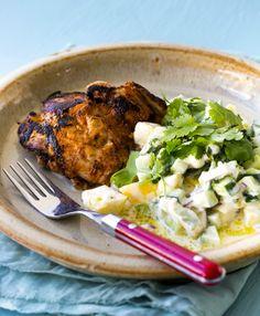 Tandoori Chicken with Raita | Nadia Lim