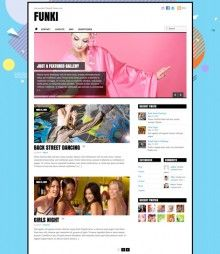 Funki - Funky Responsive WordPress Theme by Themify Funki is a responsive design theme with some artsy flare. The theme is coded with techniques and has a responsive layout which is a combination of and Javascript magic.