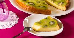 budincă cu brânză de vaci și kiwi
