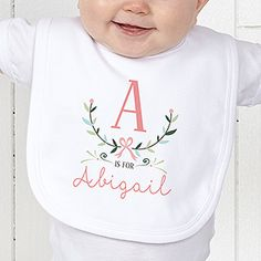 A is for Abigail Personalized Girls Clothes - Girly Chic - 15435