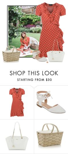 """""""Spring Picnic"""" by sherbear1974 ❤ liked on Polyvore featuring GC Shoes, Furla, Crate and Barrel and 1st & Gorgeous by Carolee"""