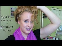 Nighttime Curly Hair Routine + How to style wet curls overnight! - YouTube