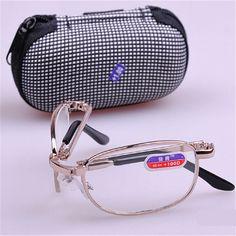 Очки для чтения складные очки для чтения мужчины женщины небольшой складной спектакль очков + 1.0, + 1.5, + 2.0, + 2.5, + 3.0, + 3.5, + 4.0