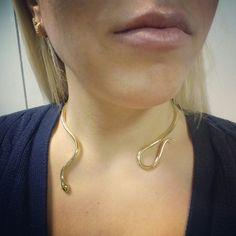 Single Loose Snake Necklace... No wonder why is a best-seller ✔  #ellinastreasures #ellinastrdesign #finejewellery