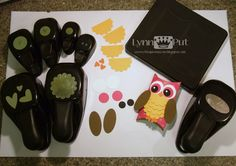 5/31/2-11; Lynn Put at 'The Queen's Scene' blog;  photo shows punches used to make the 'pillow box' owl