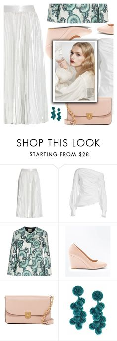 """""""Dress Me Up in a White Colored Skirt"""" by divni ❤ liked on Polyvore featuring Kate Spade, Peter Pilotto, Giorgia & Johns, New Look, Cole Haan and Sachin + Babi"""