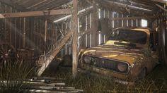 ArtStation - Abandoned Renault 4L in barn, Anton Freixas